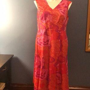 Jones New York dress 14w red/ pink/ magenta